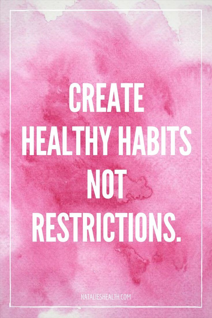 create healthy habits